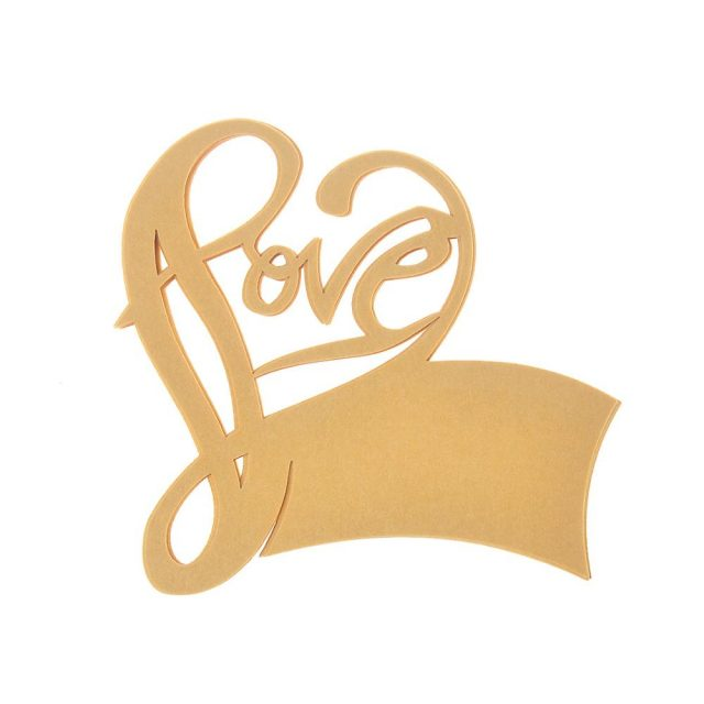 Heart Shaped Laser Cut Table Place Cards for Wine Glass Wedding Party Favor Suppliers