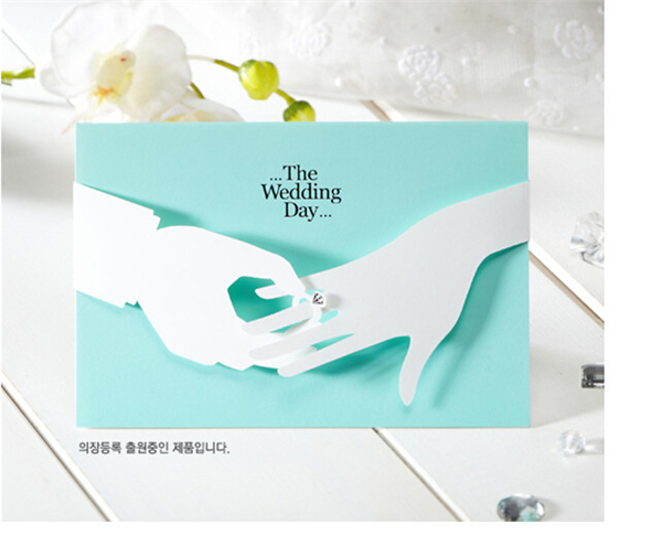 Tiffany Blue Inviting Card  Elegant Laser Cut Paper Event Party Supplies Decoration Lovely Romantic Wedding Invitation