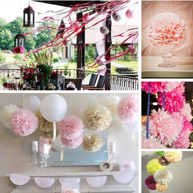 10inches Wedding Party Pom Pom Tissue Paper Available in 20 Colours