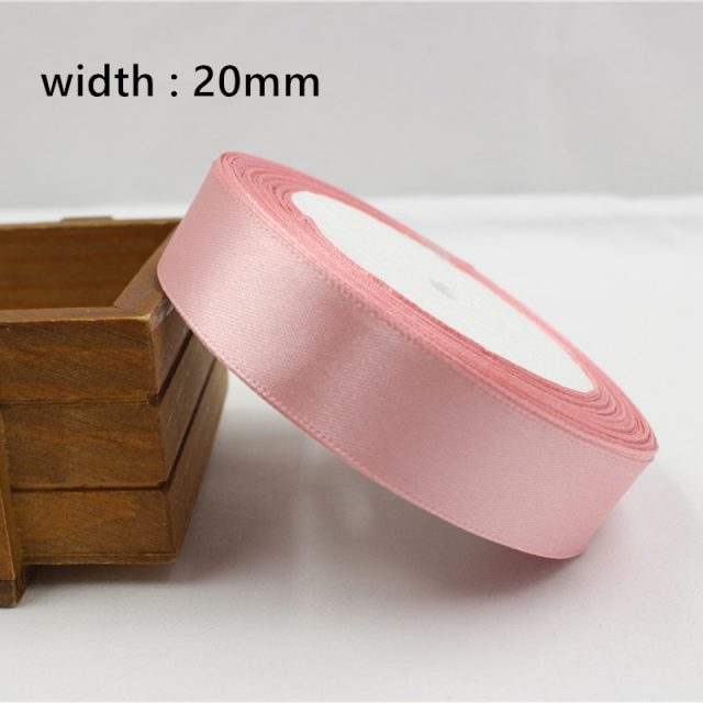 Pink Silk Satin Ribbon 6mm-50mm