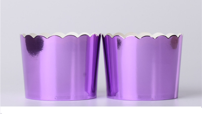 10pc shining big foil Cupcake paper Holders wedding decorations Wrapper Wraps cake box Muffin Paper Holders foiled gold cupcake
