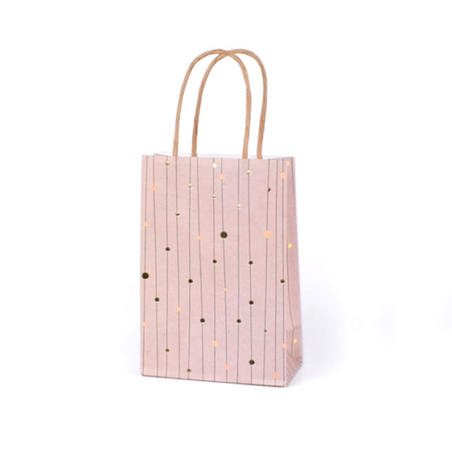 Coloured Kraft Paper Bag With Handles