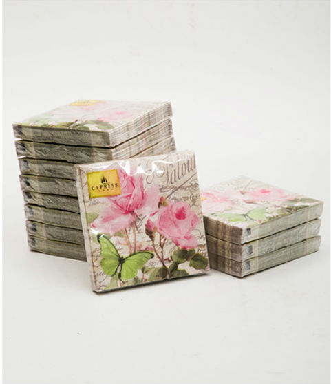 Paper napkins-3-ply Pink Flower for Wedding or Parties