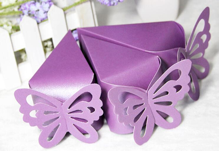 butterfly paper candy chocolate gift box for wedding birthday tea party favor