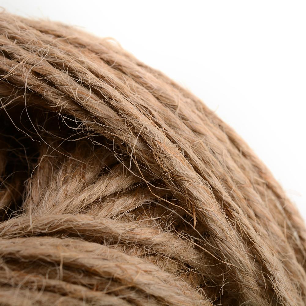 100M Soft Natural Brown Jute Hessian Burlap Rustic Twine Sisal String Cord