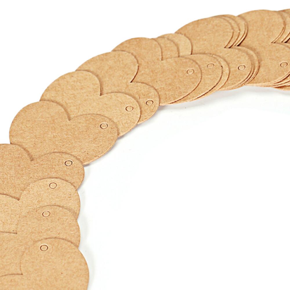 50 Heart Shape Kraft Tags