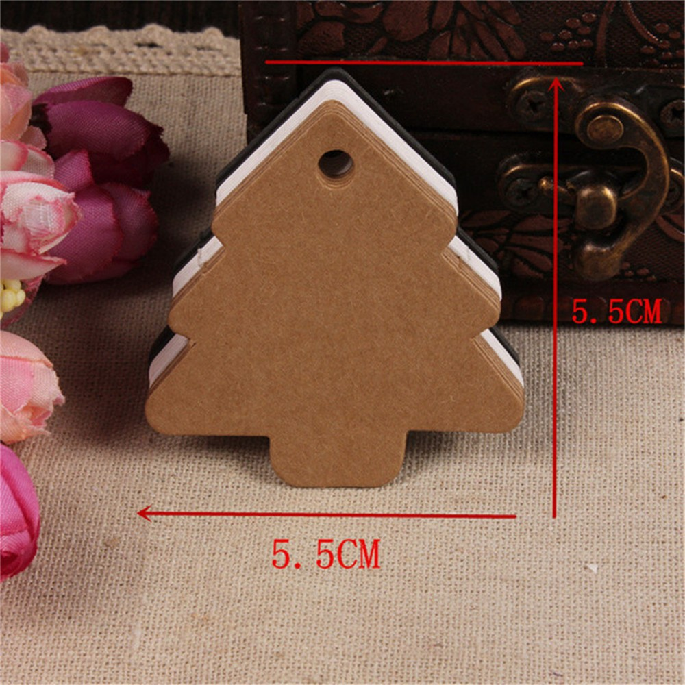 100 Kraft Paper Blank Gift Price Hand Draw Hang Tags Luggage Wedding Party Favour Note Cards Packaging Labels
