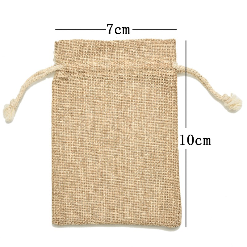 Burlap Jute Sacks Weddings Parties Favor With Drawstrings Gift Bags Christmas Party Packaging Bags 6 Sizes