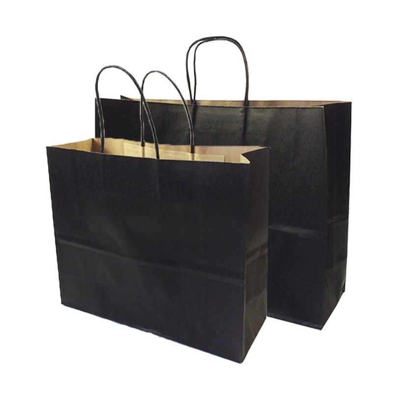 Black Paper Bags- Available in 6 Sizes