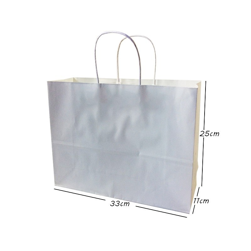 White Paper Gift Bags With Handles Multi-function