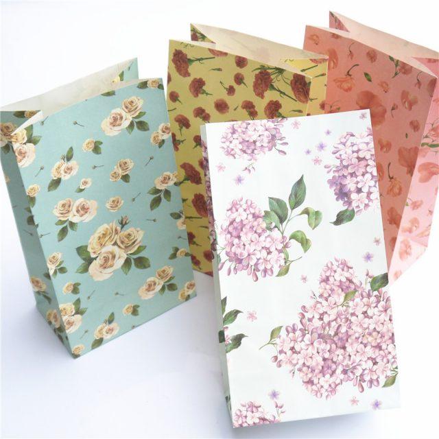 Floral Paper Bags