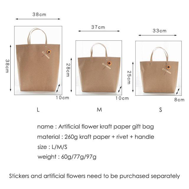 Set of Kraft paper bag and box