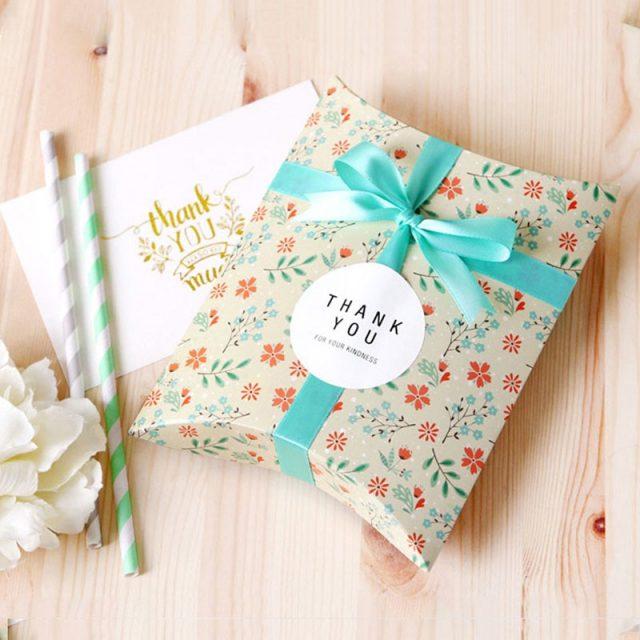 Floral Pillow Boxes