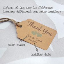Personalized  thank you wedding tags with 6 colors heart you can choose paper wedding favor tags  Personalized Gift Tags