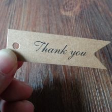 """Thank you"" "" Handmade"" Kraft Gift tags Party Wedding Message Gift Tag Hang Tag,Craft Cards Label Hemp String Included"