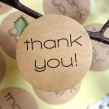 Kraft THANK YOU Design Sticker Labels food Seals, Gift stickers for Wedding seals free shipping