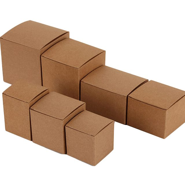 Small Cube Kraft Paper Gift Box,6cm x 6cm x6cm Brown Kraft Cardboard Boxes for Favours Packaging/Natural kraft boxes