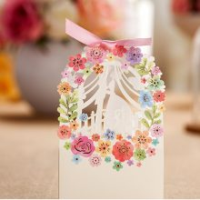 Romantic Wedding Gift Box Elegant Luxury Decoration Floral ride Laser Cut Party Sweet Favors Vintage Floral Wedding Paper Candy Box