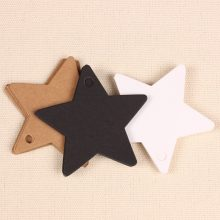 100 Star Kraft Paper Label Wedding Christmas Halloween Party Favor Price Gift Card Luggage Tags White Black Brown 3 Colours