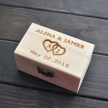 Rustic Wedding Ring Bearer Box, Personalized Wedding Ring Box, Wooden ring holder box, Wedding Decor Customized Wedding Gifts