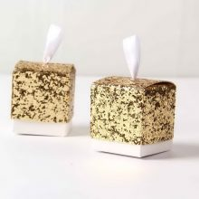 Glitter Gold Wedding Party Favour Box