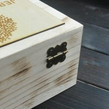Personalised Wooden Wedding guest book, Rustic with hearts