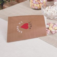 Wedding Party Favour Bags- Love Heart Design