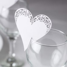 Wedding Party Glass Plce Cards