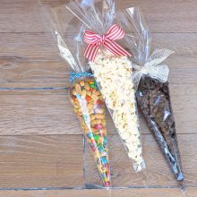 Cellophane bags for sweets cone shaped