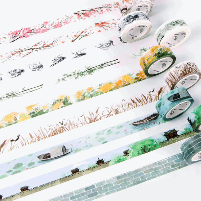 Decorative Cute Flowers Pattern Adhesive Washi Tape