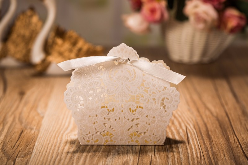 Ivory Wedding Favour Boxes