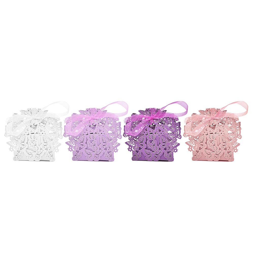 Butterfly Wedding Favour Boxes in Pink, Red, Ivory, Blue, Purple, White and Red