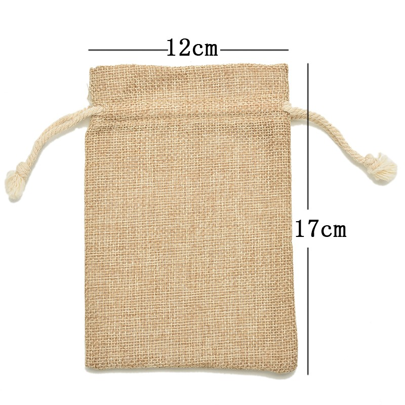 Burlap Jute Sacks Weddings Parties Favor With Drawstrings Gift Bags Christmas Party Packaging Bags 6 Sizes