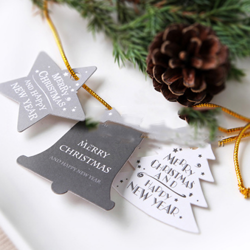 Merry Christmas 140 Paper Labels Packaging Party Gift Decoration Tags