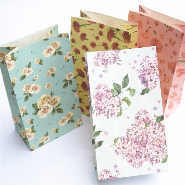 Floral Paper Bags