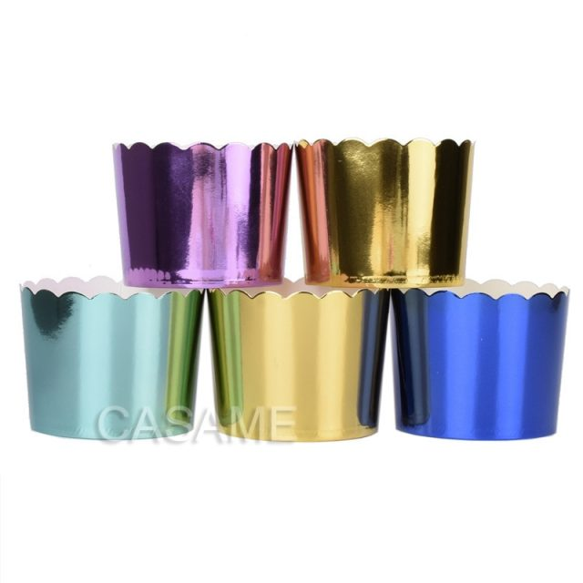 Metallic Baking Wrapper or Wedding Favour Holder-More Colours Available