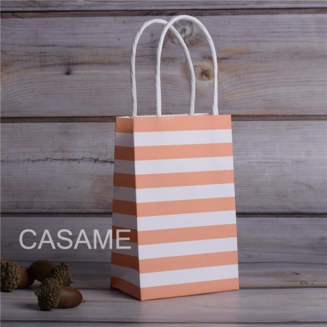 Striped Mini Gift Bags with Handles