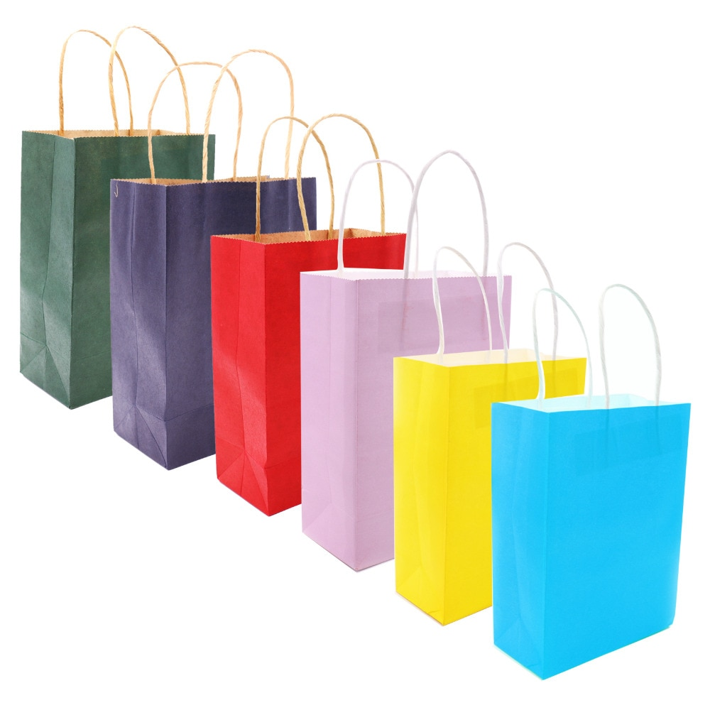 Multicoloured Paper Bag with Handles